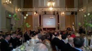 Tarja Halonen talar på SFV's vårfest 2016